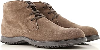 49322d4433 Hogan Desert Boots Chukka for Men On Sale in Outlet, Brown Olive, Suede  leather