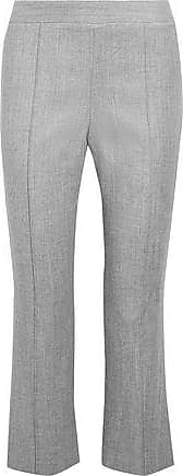 Alice & Olivia Alice + Olivia Woman Twill Kick-flare Pants Light Gray Size 10
