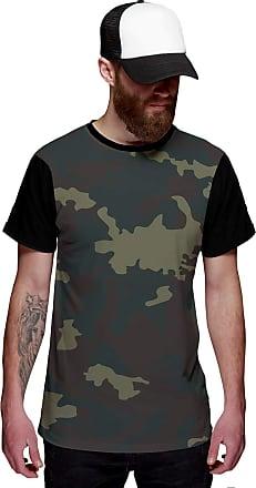 Di Nuevo Camiseta Exército Camuflada Verde Personalizada Swag
