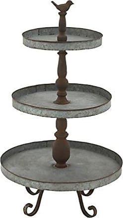 UMA Enterprises Inc. Deco 79 54347 Metal 3 Tier Tray Stand, 16 x 29