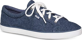 Keds Womens Maven Brush Fabric Low Top Lace Up Fashion Sneakers, Blue, Size 8.0 US / 6 UK US