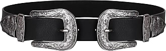 Krisp 4334-BLK-XL: Double Buckle Western Belt