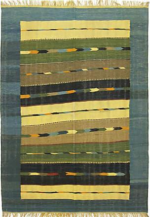 Nain Trading 241x173 Persian Kilim Fars Rug Brown/Olive Green (Handwoven, Iran/Persia, Wool)