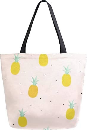 NaiiaN Purse Shopping Light Weight Strap Happy Pink Tropical Fruit Pineapple Shoulder Bags Handbags for Women Girls Ladies Student Tote Bag