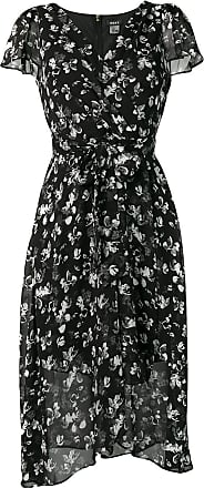 DKNY floral wrap dress - Black