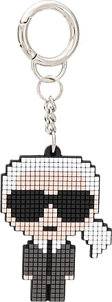 Karl Lagerfeld Karl pixelated keyring - Black