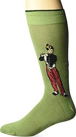 Hot Sox Mens Famous Artist Series Novelty Crew Socks, Flutist (Green), Shoe Size: 6-12