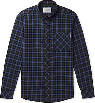 Carhartt Work in Progress Lanark Button-down Collar Checked Cotton Shirt - Green