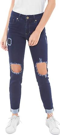 10fe5282e Triton Calça Jeans Triton Skinny Cropped Fatima Mid Azul