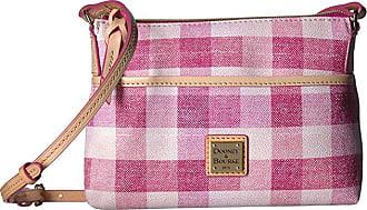 Dooney & Bourke Quadretto Check Ginger Crossbody (Pink/Vacchetta Trim) Handbags