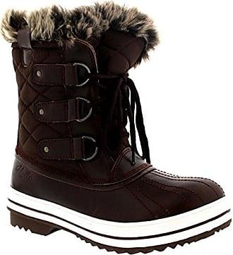 7fa90cc6d749d6 Polar Damen Schnee Stiefel Nylon Short Schnee Pelz Regen Wasserdicht  Stiefel - Braun - 41 -