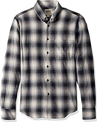 2aa1611bc11 Naked   Famous Denim Mens Regular Shirt-Ombre Flannel-Grey