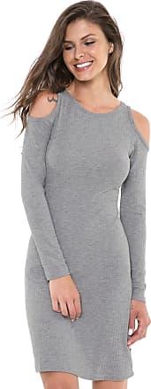 Nolita Lace Vestido Nolita Curto Off-shoulder Cinza