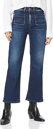 7 For All Mankind Womens Hw Vintage Cropped Boot Bootcut Jeans, Blue (Canyon 0lo), 18 (Size: 30)