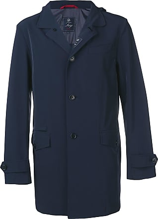 Fay single-breasted coat - Blue