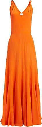 Raey Multi-seam Twist-strap Silk Dress - Womens - Orange