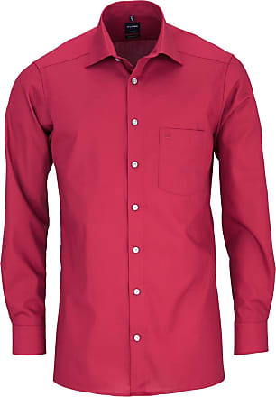 Olymp Olymp Modern Fit New Kent Collar Shirt Long Sleeve M - red - 16