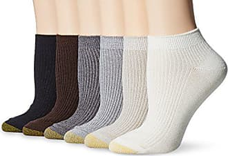 Gold Toe Womens Casual Ribbed Low Cut Socks, 6 Pairs, Vapor Blue/Bone/Oyster/Shale/Chocolate/Black, Shoe Size: 6-9