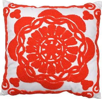 A & B Home 18 in. Medallion Embroidered Pillow