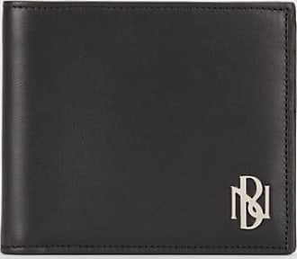 Neil Barrett Metal Monogram Leather Bi-fold Wallet