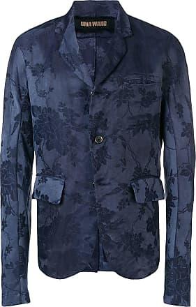 Uma Wang floral tailored blazer - Blue