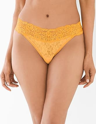 Soma Embraceable Allover Lace Thong, Radiant Yellow, Size S