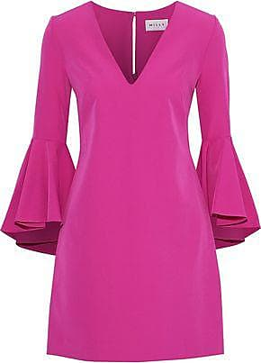 Milly Milly Woman Ruffled Crepe Mini Dress Magenta Size 10