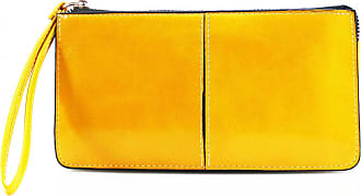 LeahWard Womens Faux Leather Wristlet Purse Nice Bag Great Brand Purses 20146 (YELLOW)