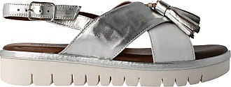 Inuovo 109007 - White Leather Sandal for Women White Size: 4 UK