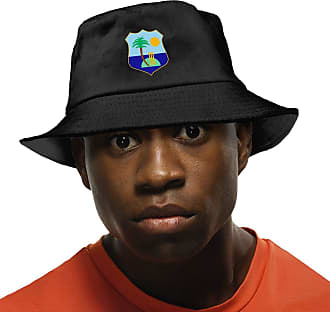 Not Applicable Clothing West Indies Cricket Board Flag Sun Hat Fisherman Hat UV Protection Bucket Hat for Hiking Fishing Black