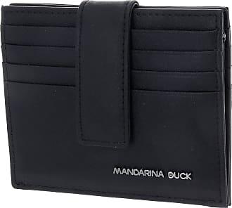 Mandarina Duck Detroit Leather RFID Card Holder Black