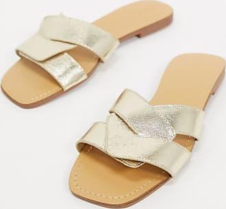 Pimkie strappy wraparound sandals in gold