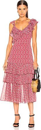 Marissa Webb Lisandra Print Dress in Floral,Red