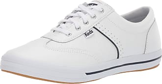Keds Womens COURTY CORE Leather Sneaker, White, 8 Wide