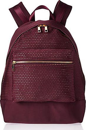The Fix Riley Perforated Neoprene Backpack Fashion Backpack, Burgundy