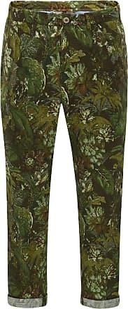 Pantaloni Torino Baumwoll-Joggpants Larry grün/oliv gemustert