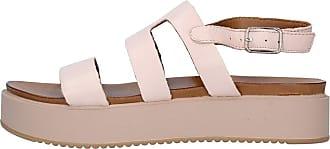 Inuovo Leather Sandal Blush Adjustable Strap 3 cm Heel MOD. 8747 Blush Pink Size: 8 UK