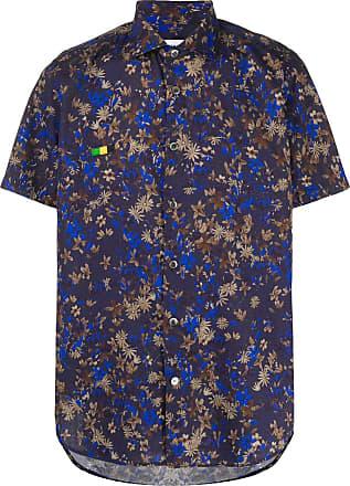Department 5 Camisa mangas curtas floral - Azul
