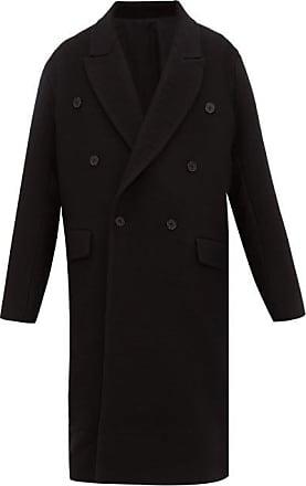 Raey Dropped-shoulder Wool Coat - Mens - Black