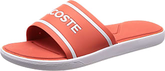 3c5b266900e71 Lacoste Womens Lacsote Synthetic L.30 Slides Lightweight Open Toe Beach  Sliders - Pink