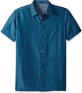 Turquoise Storm Van Heusen Men/'s Big Flex Stretch Short Sleeve Non Iron Shirt