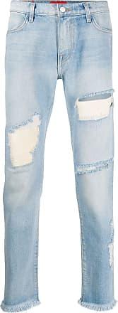 424 Tief sitzende Skinny-Jeans - Blau
