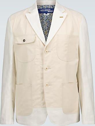 Junya Watanabe Single-breasted linen blazer
