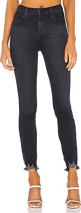 J Brand Alana High Rise Crop Skinny in Abstract Destruct