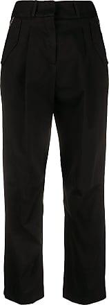 Fabiana Filippi straight-leg cropped trousers - Black