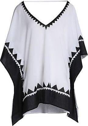 9e8f41e95ca4b Vix Vix Paula Hermanny Woman Paneled Cotton-voile Coverup White Size M