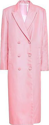 Helmut Lang Helmut Lang Woman Double-breasted Sateen Coat Baby Pink Size XXS