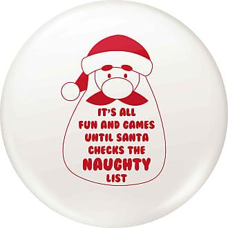 Flox Creative 77mm Pin Badge Santa Checks Naughty