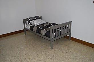 A & L Furniture A & L Furniture 3100OGP Slat Mission Bed, Twin, Olive Gray