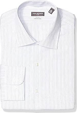 Van Heusen Mens Big and Tall Dress Shirts Tall Fit Flex Stripe, Riviera Blue, 22 Neck 35-36 Sleeve
